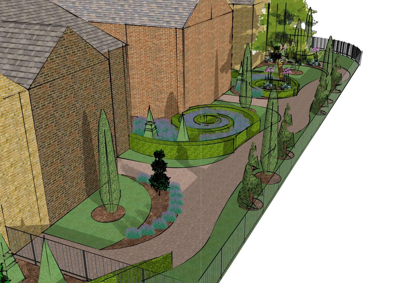 Luke barklamb front garden visual luke barklamb for Garden design visualiser