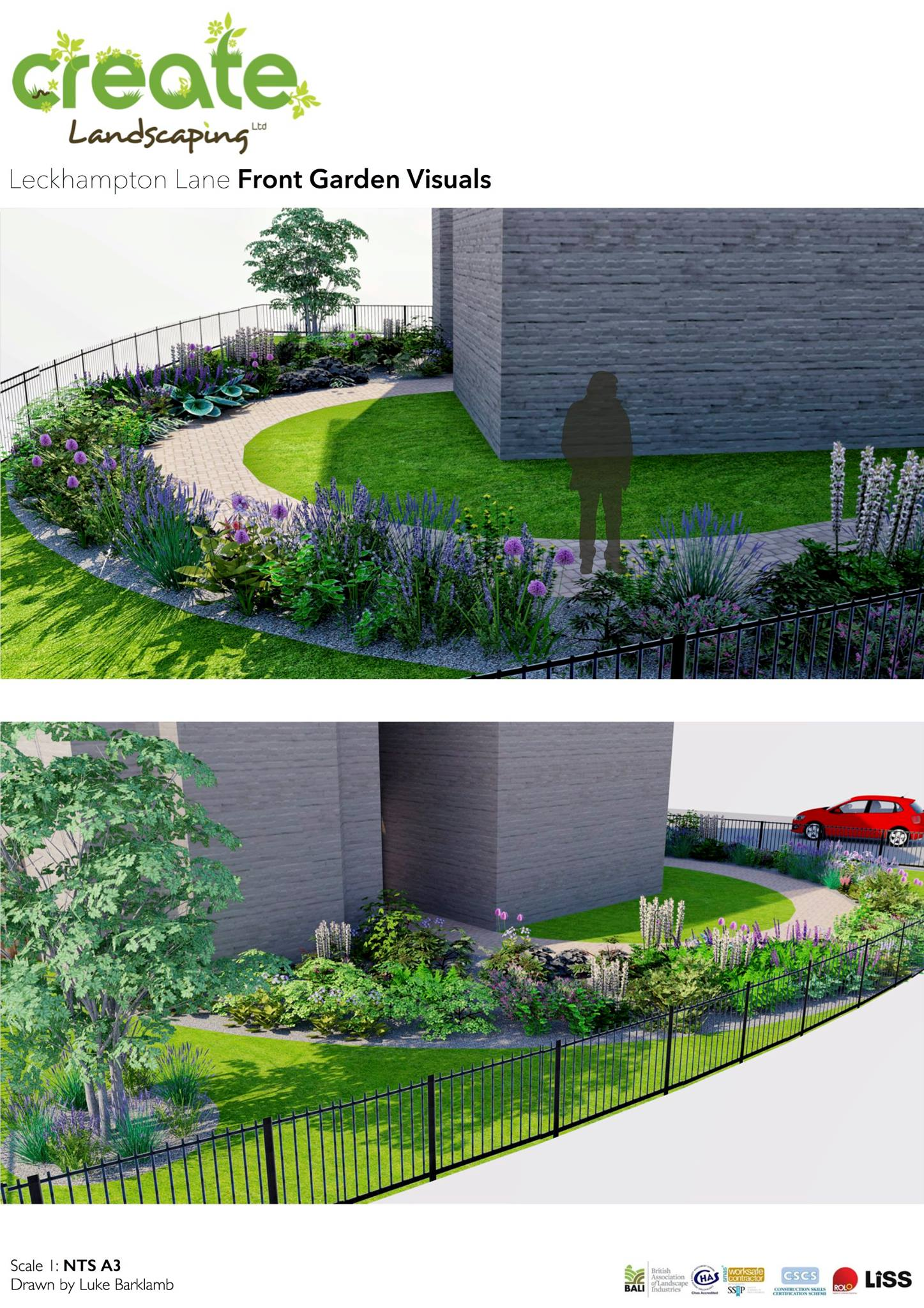 Luke barklamb latest commercial landscape design project for Commercial landscape design